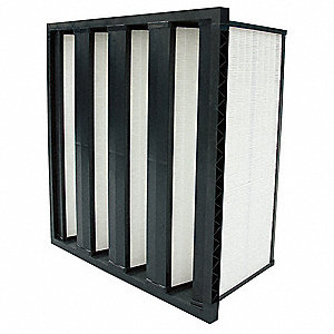 24x24x12 100% Synthetic Media V-Bank Air Filter with MERV15 and 95% Filter Efficiency