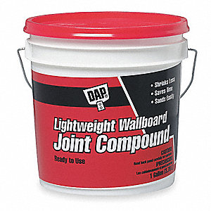 Lightweight Wallboard Joint Compound, 1 gal. Size, White Color, Container Type: Pail