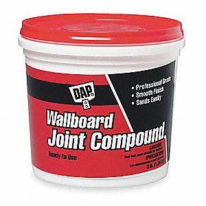Wallboard Joint Compound,3 lb,Pail,White