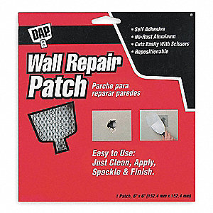 WALL REPAIR PATCH,SELF-ADHESIVE,6 X