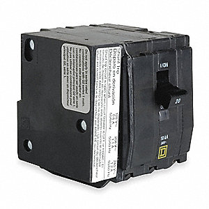 Bolt On Circuit Breaker,20A,3 Pole,QOB