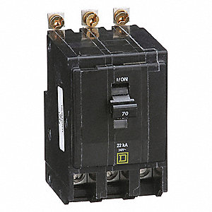 SQUARE D Bolt On Circuit Breaker 70 Amps Number Of Poles 3 240VAC AC Voltage Rating