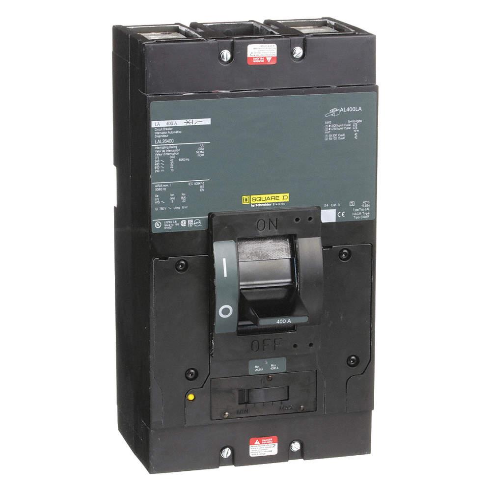SQUARE D Circuit Breaker, 400 Amps, Number of Poles: 2, 600VAC AC ...