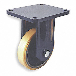 "10"" Medium-Duty Rigid Plate Caster, 2640 lb. Load Rating"