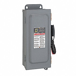 Safety Switch, 12 NEMA Enclosure Type, 100 Amps AC, 60 HP @ 600VAC HP