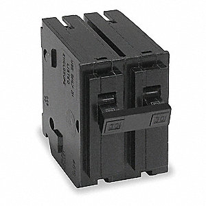 Plug In Circuit Breaker, HOM, Number of Poles 2, 15 Amps, 120/240VAC, Standard
