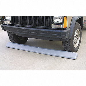 Parking Curb,72 In,Gray,Polyethylene