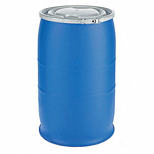 30 gal. Blue Polyethylene Open Head Transport Drum