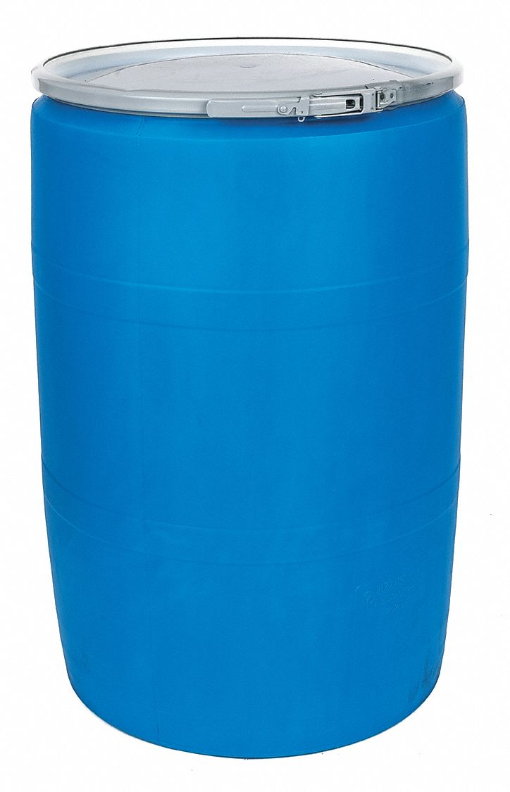Grainger Roved 55 Gal Blue Polyethylene Open Head Transport Drum 2gtz2 Poly55ohblpc