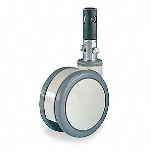 Swivel Stem Castr,Plyurthan,6 in.,330 lb