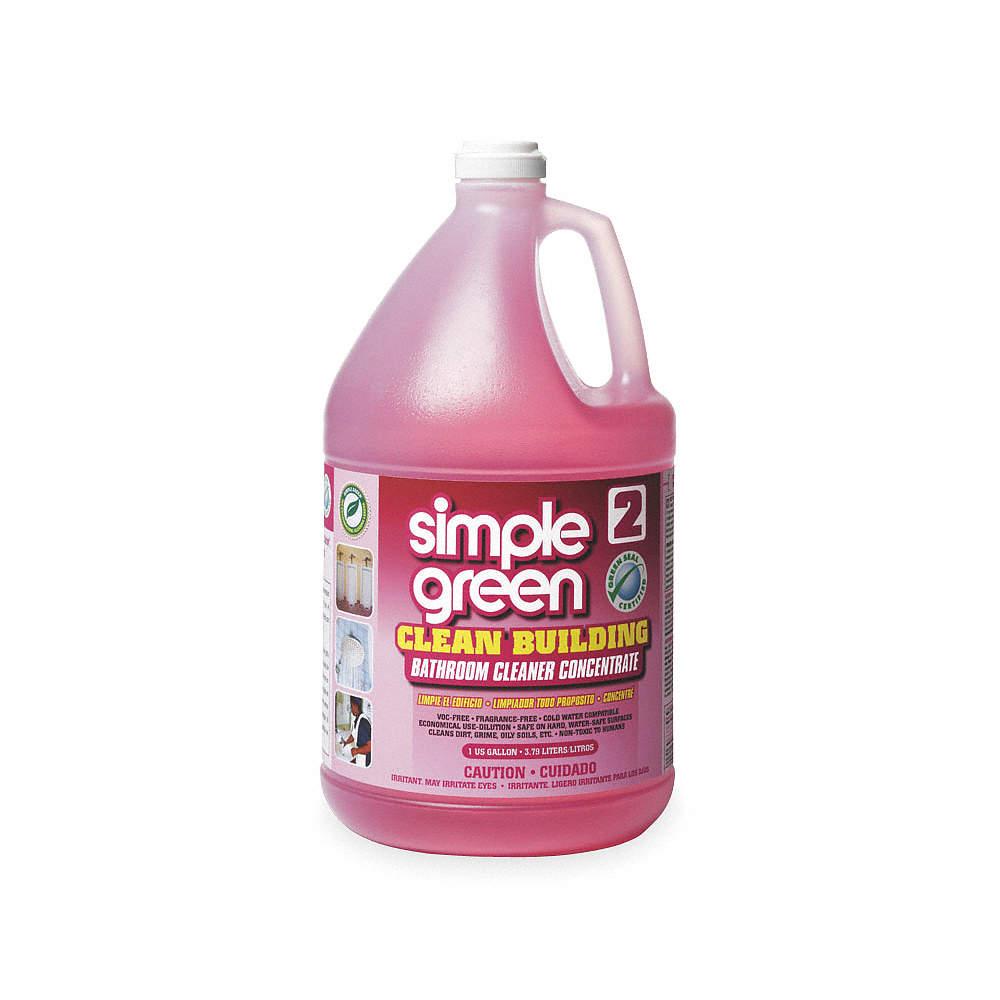 SIMPLE GREEN Bathroom Cleaner Gal Bottle Unscented Liquid - Bathroom cleaner liquid