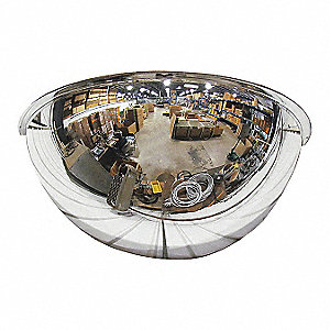 "18""-dia. Acrylic 180° Half Dome Mirror with 18 ft. Approx. Viewing Distance"