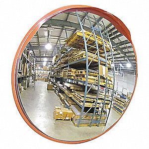 Circular Indoor/Outdoor Convex Mirror, 160° Viewing Angle, 42 ft. Approx. Viewing Distance