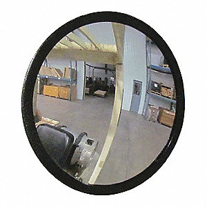 Indoor Convex Mirror,7 Dia,10 W,Acrylic