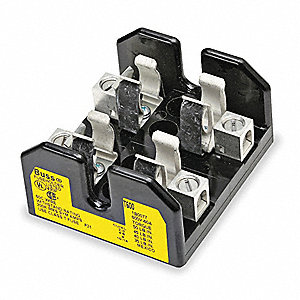 2-Pole Industrial Fuse Block, AC: 600VAC, DC: Not Rated, 65 to 100A, Series JJS, LPT