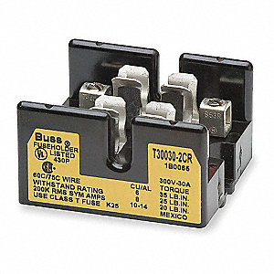 Fuse Block,Industrial,30A,2 Pole