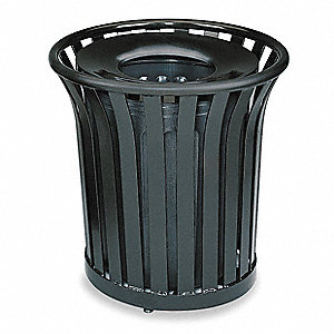 Rubbermaid Americana Series 36 Gal Round Open Top Decorative Trash