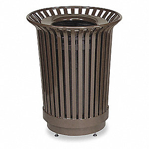 24 gal. Round Bronze Trash Can