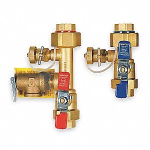 Tankless Water Heater Valve,3/4 In,FIP