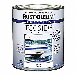 Topside Paint,White,Alkyd