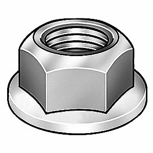 "Nylon Lock Nut with 1/4""-20 Dia./Thread Size&#x3b; PK250"