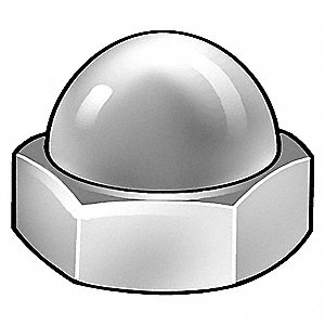 Cap Nut,M4-0.70mm,Gr A2,SS,Plain,PK25