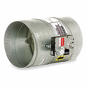 Round Damper,Modulating Automatic,8In