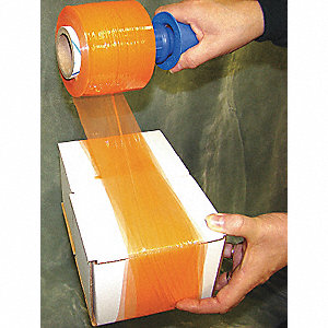 "3"" x 1000 ft. Polyethylene Hand Stretch Wrap, 80 Gauge, Orange, 4PK"
