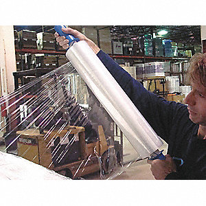 "20"" x 800 ft. Polyethylene Hand Stretch Wrap, 120 Gauge, Clear, 1EA"
