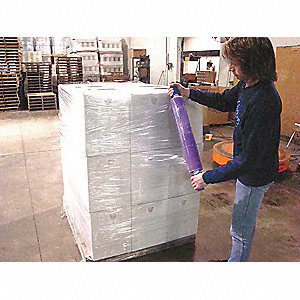 "20"" x 800 ft. Polyethylene Hand Stretch Wrap, 120 Gauge, Purple, 1EA"