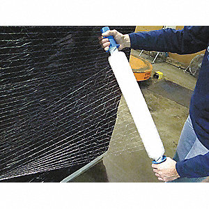 "20"" x 1000 ft. Polyethylene Hand Stretch Wrap, 80 Gauge, Clear, 1EA"