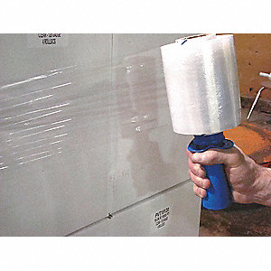 "Stretch Wrap, Hand Dispensed, 5"" x 650 ft., Gauge: 120, Clear"