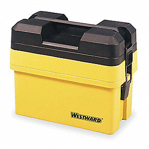 "Portable Tool Box, Plastic, 16-1/4"" Overall Width x 9"" Overall Depth"