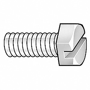"Hex Cap Screw,1/4""-20,1-1/4""Nylon,PK100"