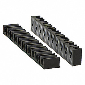 "1/4""D Tube Rack 10 Channels, 2PK"