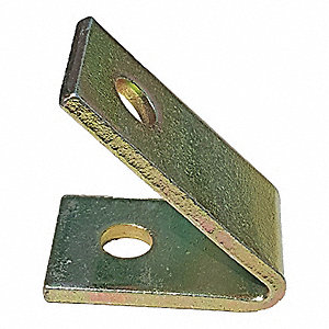 Steel Channel Angle Bracket, 45° Acute, Galv-Krom Finish