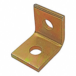 Steel Channel Angle Bracket, Galv-Krom Finish