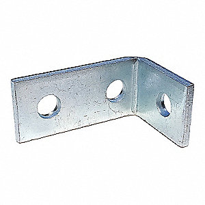 Steel Channel Angle Bracket, Electro Galvanized Finish