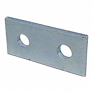 Steel Channel Connecting Plate, Electro Galvanized Finish