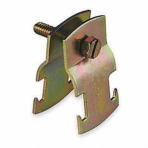 RIGID PIPE CLAMP,3 IN,GOLD,PK10