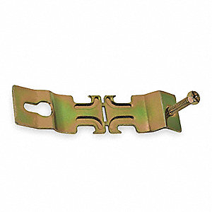ANGLER PIPE CLAMP,3/4 IN,GOLD,PK10