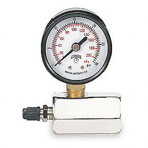 TEST GAUGE,AIR,0-30 PSI