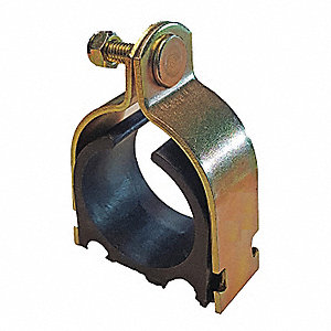 Channel Pipe Clamp,1-3/8 In,Gold