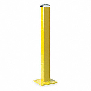 "Inline Post, 11 ga. Steel, Double Guard Rail Levels, 42-5/8"" Post Height"