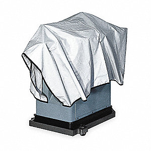 Cotton Canvas Machine Cover Tarp, Resists Water, 6 mil, Gray