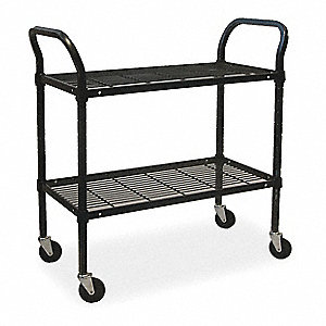 "51-1/2""L x 24""W x 42""H Powder Coated Steel Wire Utility Cart, 800 lb. Load Capacity"