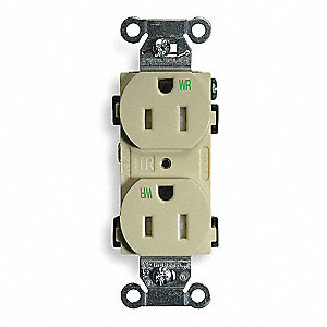Receptacle,Duplex,15A,5-15R,125V,Ivory