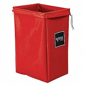Hamper Bag,30 gal,Red Vinyl