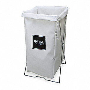 Hamper Bag,30 gal,White Vinyl
