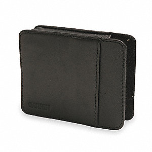 Black Carrying Case,Leather,3.1 In L